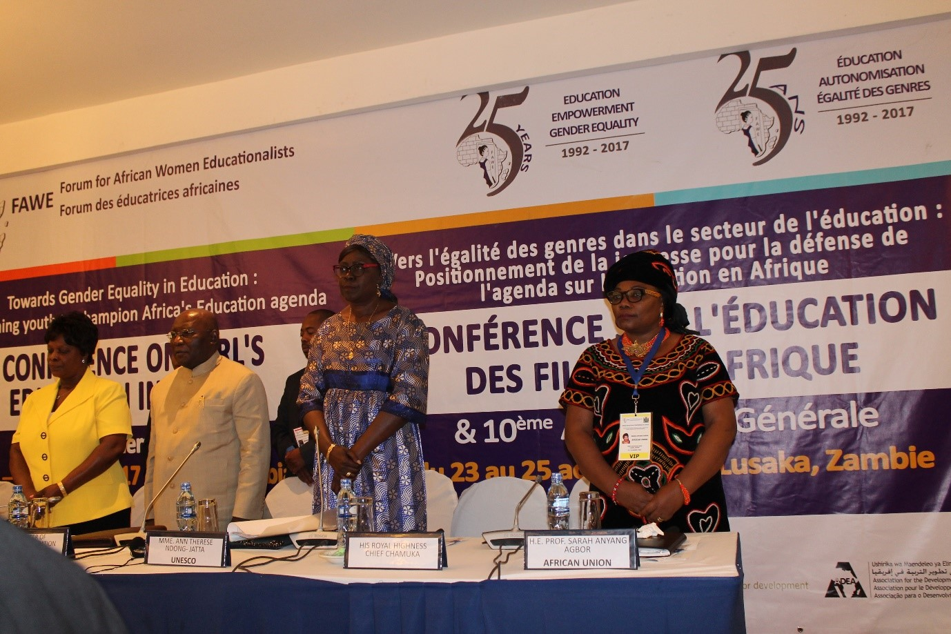 Conference on African Girls' Education in Africa Towards gender
